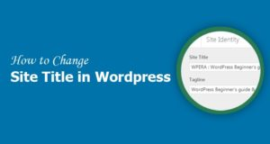 How to Change Site Title and Tagline in WordPress Website