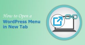 How to Open WordPress Menu Item in a New Tab or Window