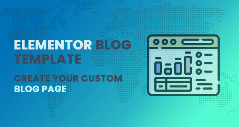 Elementor blog template