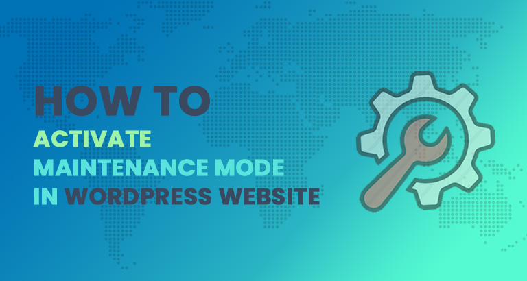 how to activate maintenance mode in wordpress website
