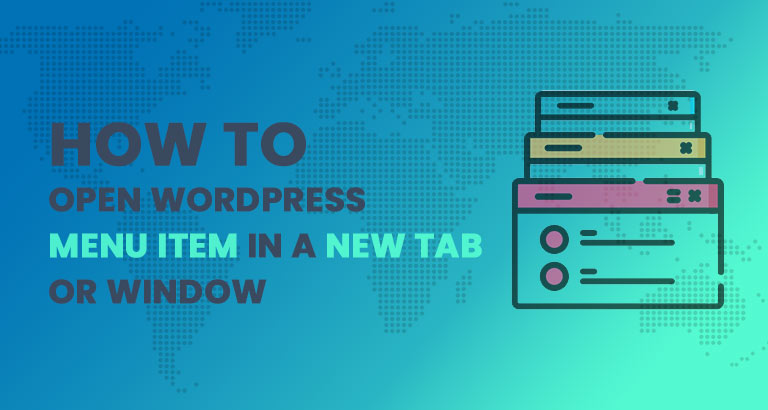 how to open wordpress menu item in a new tab