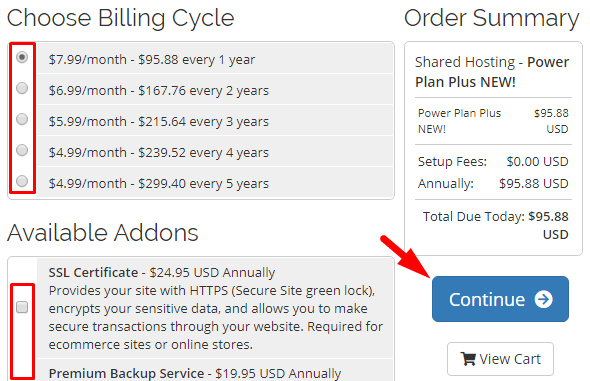 Billing Cycle, Order Summary