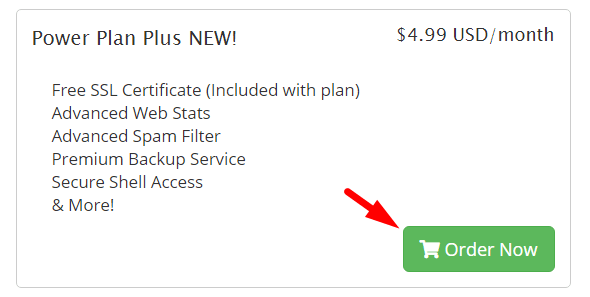 Order Power Plan Plus NEW! Hosting, Order a New Hosting Plan, webhostingpad ssl coupon