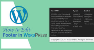 How to Edit Footer in WordPress – Following 4 Easy Methods