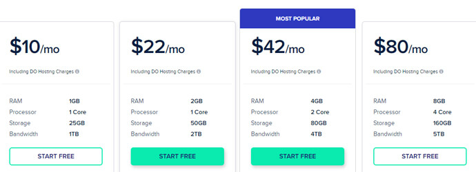Cloudwaysweb hosting pricing plans, best website hosting for small business