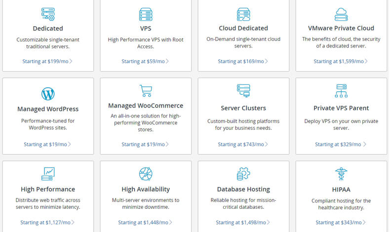 Managed Hosting Pricing Plans by liquidweb, best hosting for magento