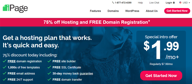 ipage, small business web hosting