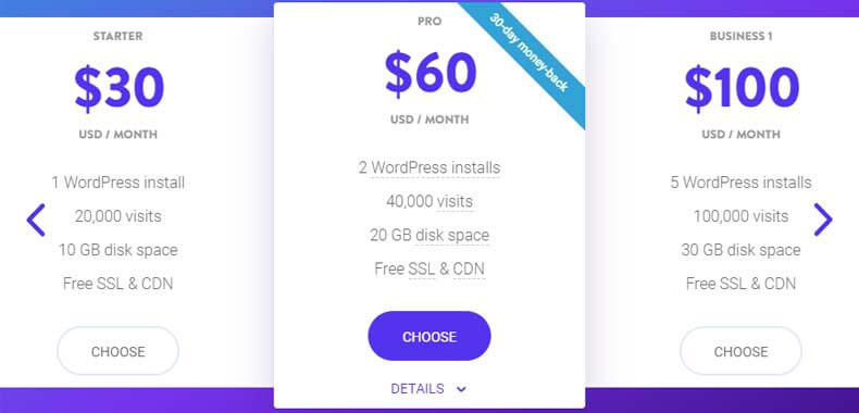 Hosting Pricing Plans by kinsta, Best Web Hosting for Developers, best website hosting for web designers
