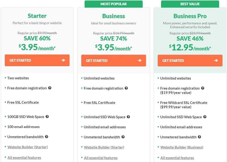 WebHosting Pricing Plans by hostpapa, best magento hosting, magento website hosting