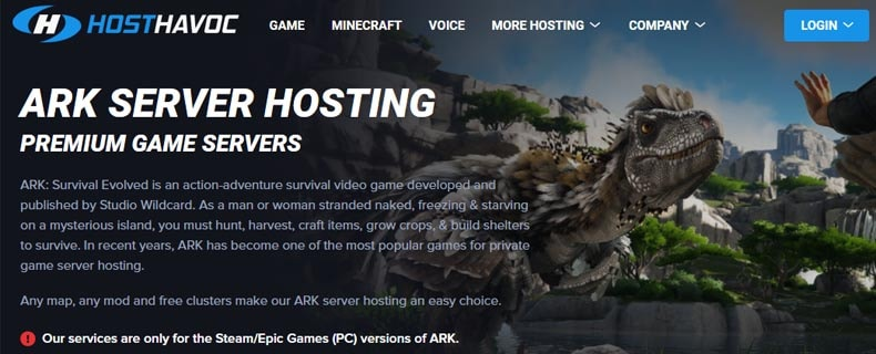 hosthavoc ark server hosting, best ark hosting server