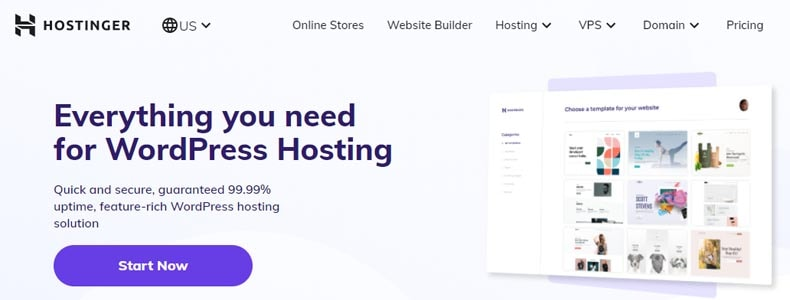 hostinger WordPress hosting plan