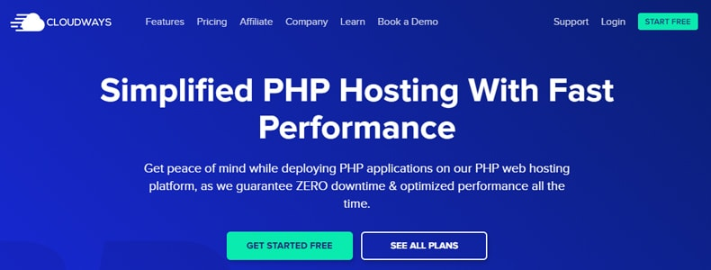 CloudWays PHP Hosting Plan, best php bedjet hosting