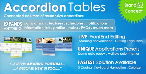 Accordion Tables, FAQs, Columns, and More Plugin, WordPress Accordion Plugins