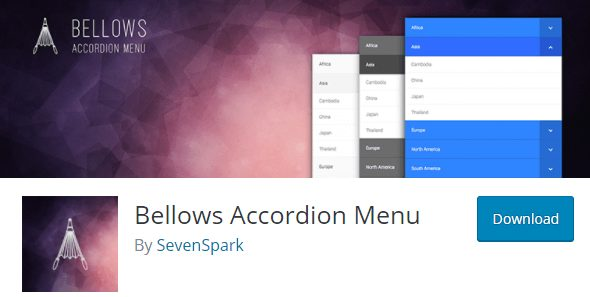 Bellows Accordion Menu Plugin