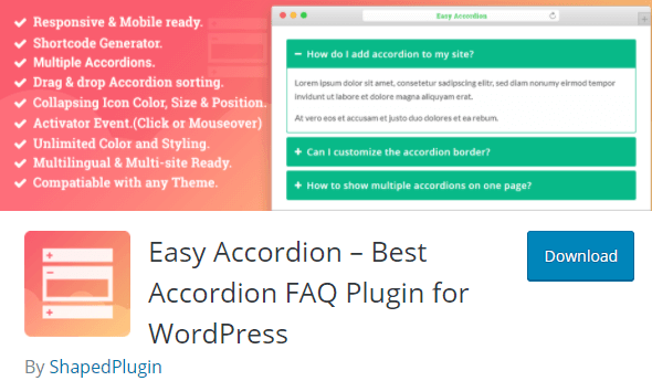 Easy Accordion Plugin