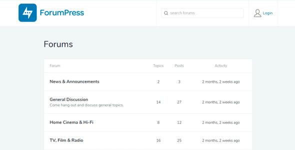 ForumPress WordPress Theme, Best WordPress Forum Themes