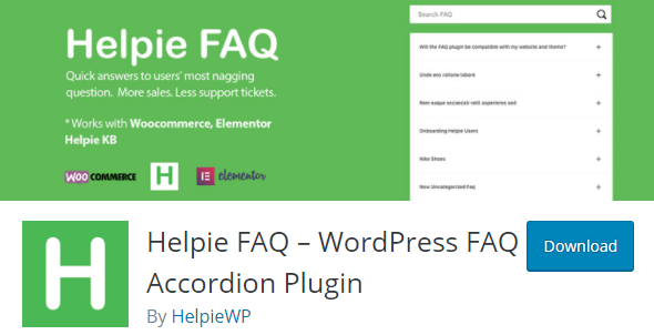 Helpie FAQ Plugin