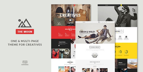 The Moon parallax wordpress themes, best wordpress themes with parallax