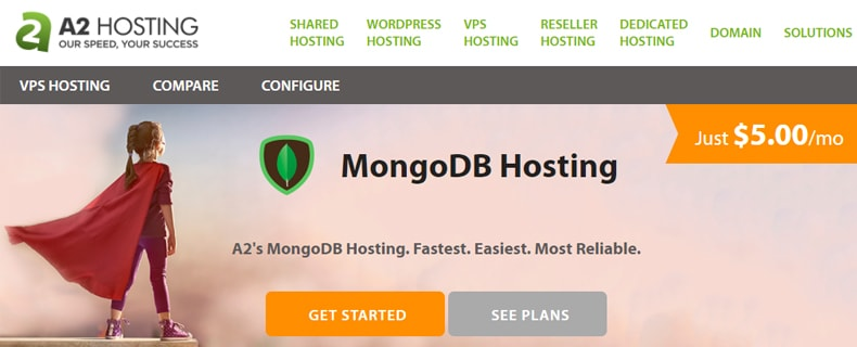 a2hosting MongoDB hosting plan, cheap mongodb hosting