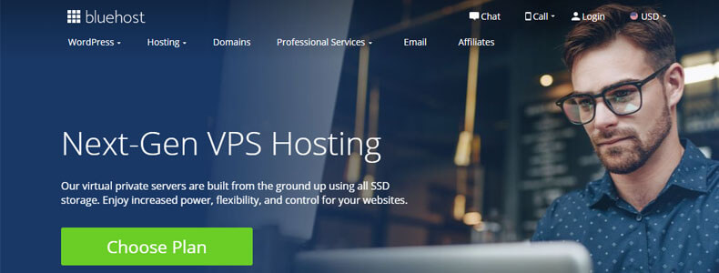 bluehost vps hosting plan, best vps hosting providers