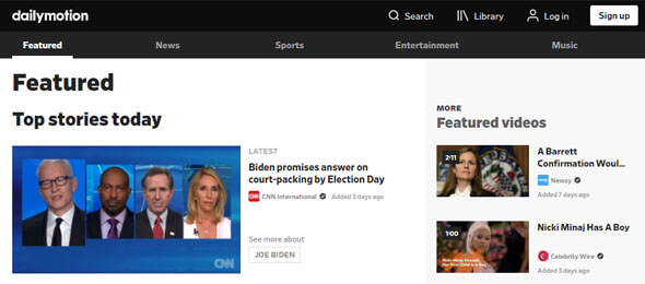 dailymotion video host site