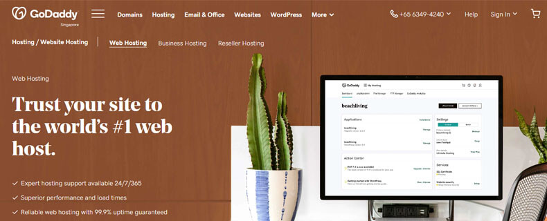 Godaddy index page, best website hosting for authors
