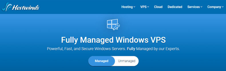 hostwinds vps hosting plan