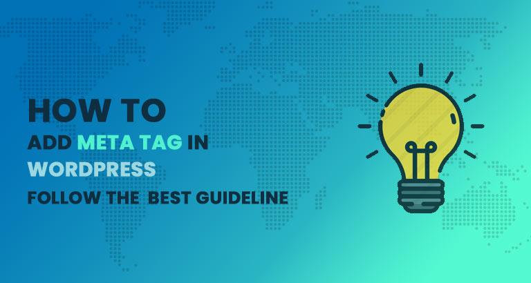 Howto add meta tag in wordpress