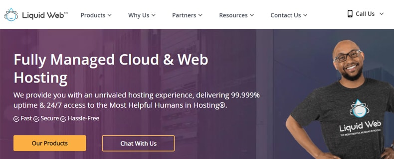 liquidweb home page, best mongodb cloud hosting