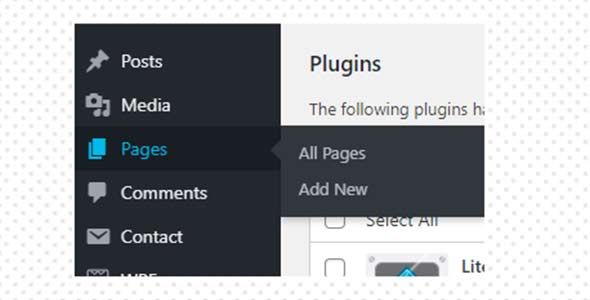 process to create page in wp