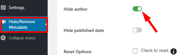 how to hide author in wordpress posts, hide author switch