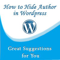 how to hide author