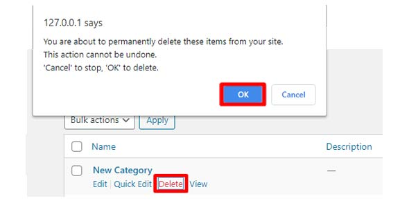 delete-category, how to add categories in wordpress