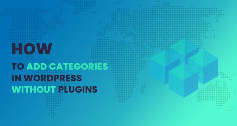 How to add categories in wordpress