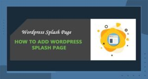 How to Create WordPress Splash Pages – the Best Guidelines for You