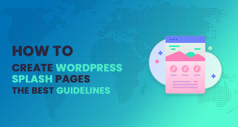 how to create splash page in wordpress