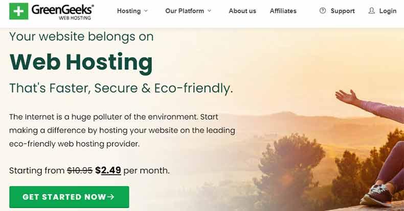 Greengeeks web hosting, best web hosting for authors