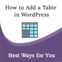 how to add a table in wordpress