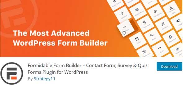 best formidable contact form wordpress plugin