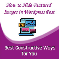 hide feature image in wordpress post features image small