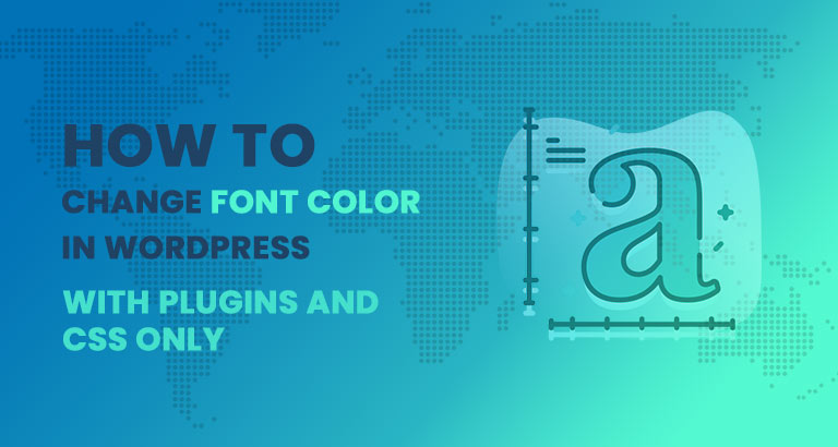 How to change font color in wordpress