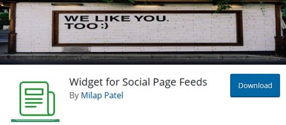 widget for social feeds