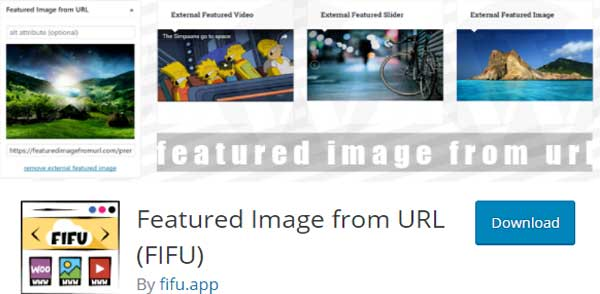 Featured image from URL plugins