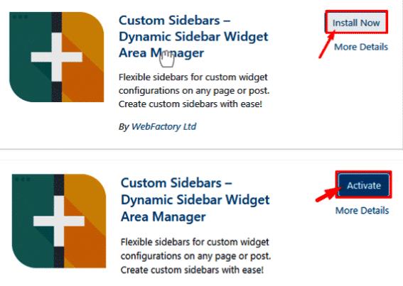 custom sidebar dynamic sidebar widget
